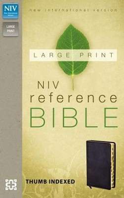 NIV Largeprint, Reference Bible, Black, Thumb-Indexed   -
