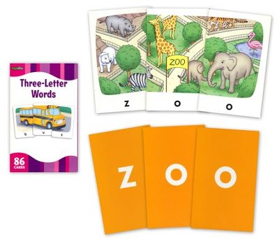 3 Letter Words, Flash Cards  -