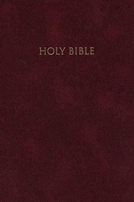NIV Reference Bible, Giant Print, Burgundy - Slightly Imperfect  -