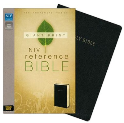 NIV Reference Bible, Giant Print, Black, Thumb-Indexed   -