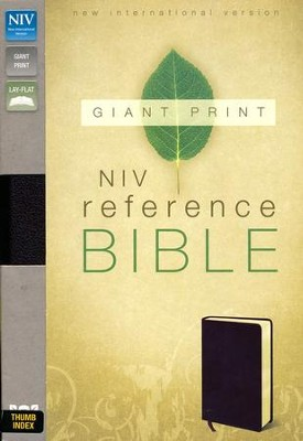 NIV Reference Bible, Giant Print, Burgundy, Thumb-Indexed  - Slightly Imperfect  -