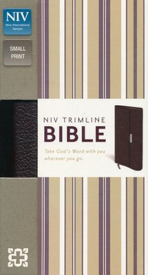 NIV Trimline Bible, Snap Flap, Bonded Leather, Burgundy  - Imperfectly Imprinted Bibles  -