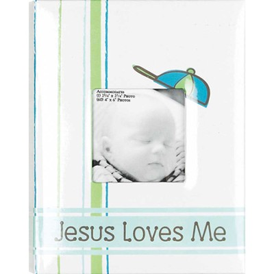 Jesus Loves Me, Photo Album, Blue  -