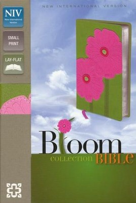 NIV Compact Thinline Bible, Bloom Collection--Gerbera Daisy Duo-Tone  -