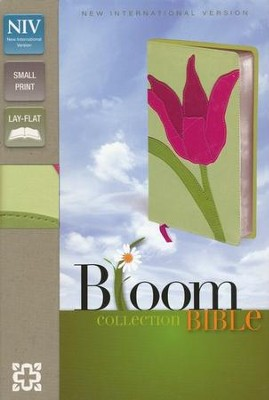 NIV Compact Thinline Bible, Bloom Collection, Tulip Duo-Tone  -