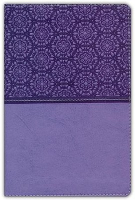 NIV Compact Thinline Bible, Lavender Duo-Tone  -