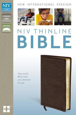 NIV Thinline Bible, Brown  -