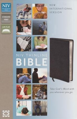 NIV Thinline Bible, Black - Slightly Imperfect  -
