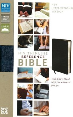 NIV Thinline Reference Bible, Navy - Imperfectly Imprinted Bibles  -