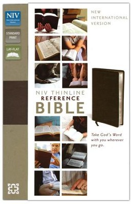 NIV Thinline Reference Bible, Burgundy, Thumb-Indexed   -