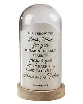 For I Know the Plans, Jeremiah 29:11, Light Jar  -
