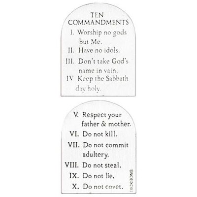 Ten Commandments Pocket Stone  -