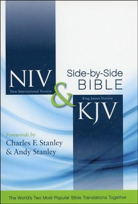 NIV and KJV Side-by-Side Bible, Hardcover - Slightly Imperfect  -