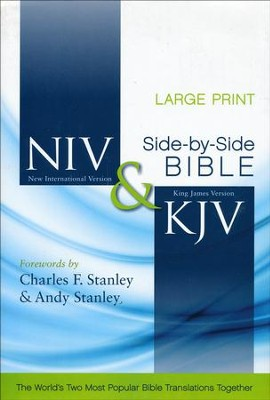 NIV/KJV Parallel Bible, Largeprint - Slightly Imperfect  -