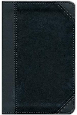 NIV Thinline Bible, Compact, Italian Duo-Tone, Charcoal/Black  -