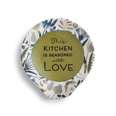 This Kitchen is Seasoned with Love Ceramic Spoon Rest  -