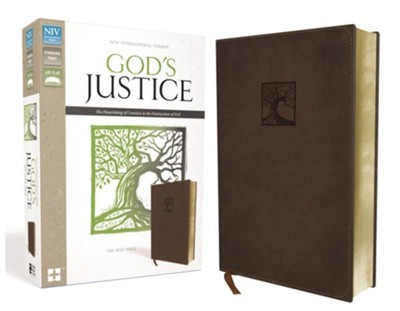NIV God's Justice: The Holy Bible--soft leather-look, brown  -     By: Tim Stafford