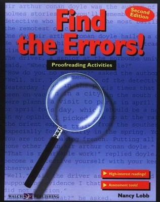 Find the Errors! Proofreading Activities                     -     By: Nancy Lobb