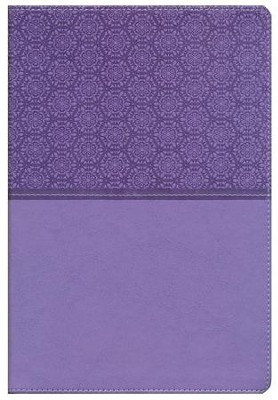 NIV Student Bible, Italian Duo-Tone, Lavender  - Slightly Imperfect  -