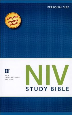 NIV Study Bible, Personal Size, Softcover - Slightly Imperfect  -