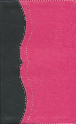 NIV Study Bible, Personal Size, Imitation Leather, Charcoal Pink  -
