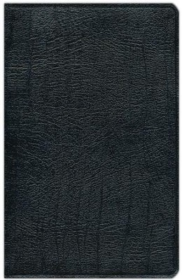 NIV Study Bible, Top Grain Leather, Black, Indexed   -
