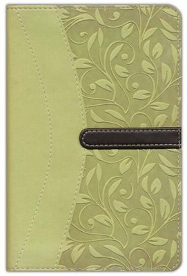 NIV Compact Thinline Bible, Melon/Chocolate Duo-Tone  -
