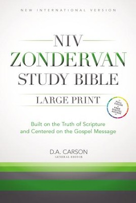 NIV Zondervan Study Bible, Large-Print; Hardcover   -     Edited By: D.A. Carson     By: Edited by D.A. Carson