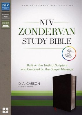 NIV Zondervan Study Bible, Bonded Leather, Black   -     Edited By: D.A. Carson