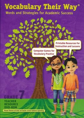 Vocabulary Their Way: Words and Strategies for Academic Success Teacher Resource DVD-ROM, Grade 7  -