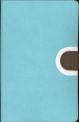 NIV Thinline Bible, Duo-Tone, Turquoise/Chocolate  - Imperfectly Imprinted Bibles  -