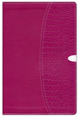 NIV Thinline Bible, Duo-Tone, Razzleberry   -