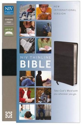 NIV Thinline Bible, Duo-Tone, Black   -