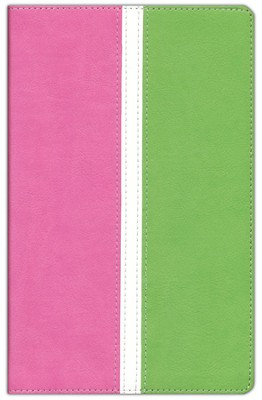 KJV Busy Mom's Bible--soft leather-look, pink/spring green  -