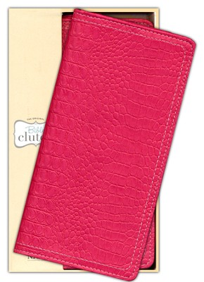 NIV Clutch Bible, Raspberry Leather-look  - Slightly Imperfect  -