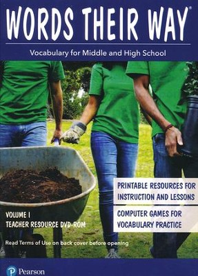 Words Their Way: Vocabulary for Middle and High School Volume 1 Teacher Resource DVD-ROM  -