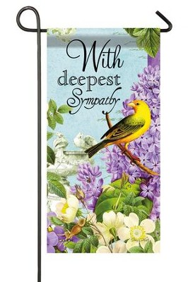 With Deepest Sympathy Mini Flag  -     By: Joy Hall