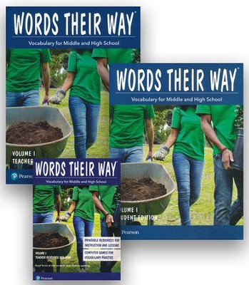 Words Their Way: Vocabulary for Middle and High School Volume 1 Homeschool Bundle  -