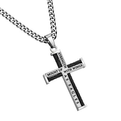Strength Cable Cross Necklace  -