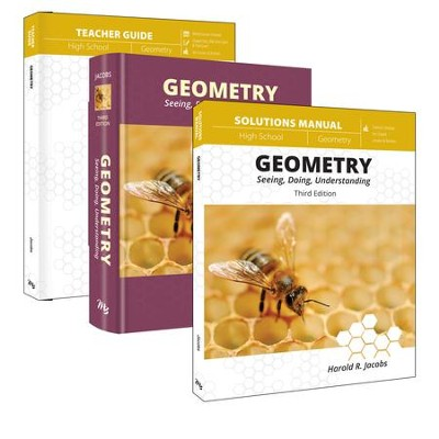 Geometry Curriculum Pack (Student, Teacher, Solutions) Textbook Bindings (3 Book Pack)  -     By: Harold Jacobs