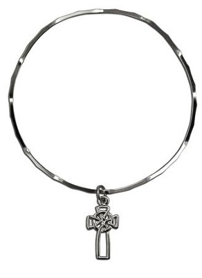 Celtic Cross Stackable Bracelet  -