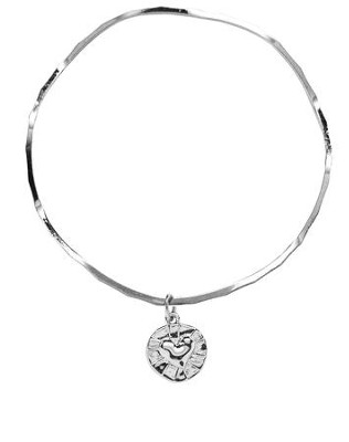 Heart In Circle Stackable Bracelet  -