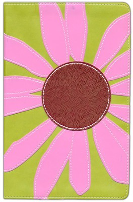 KJV Thinline Bloom Collection Bible, Compact, Pink Daisy  -