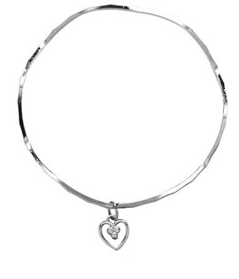 Open Bead Heart Stackable Bracelet  -