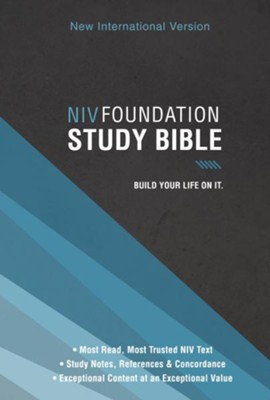 NIV Foundation Study Bible, hardcover  -