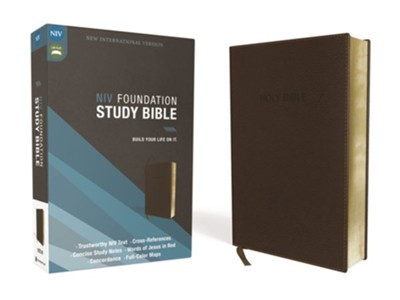 NIV Foundation Study Bible, Soft-Leather-Look, Earth Brown    -