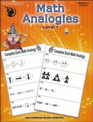 Math Analogies Level 1   -     By: Linda Brumbaugh, Doug Brumbaugh