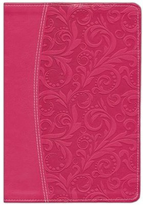 NIV Life Application Study Bible, Imitation Leather Honeysuckle Pink, Thumb-Indexed  -