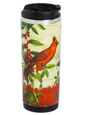 Cardinal Ceramic Stainless Steel Travel Mug  -