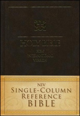 NIV Single-Column Reference Bible  -